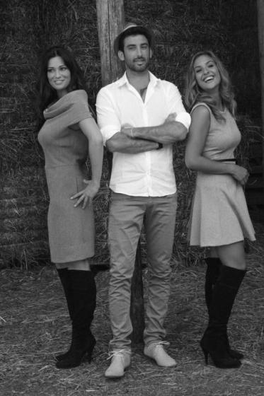 Manuela Arcuri, Angelica Livraghi e Ferdinando Giordano