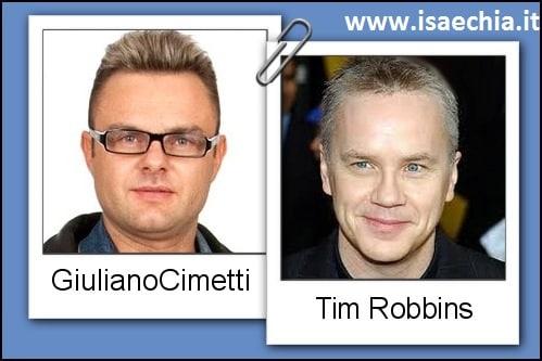 Somiglianza tra Giuliano Cimetti e Tim Robbins