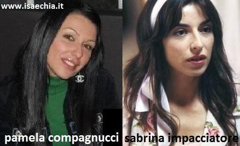 Somiglianza tra Pamela Compagnucci e Sabrina Impacciatore