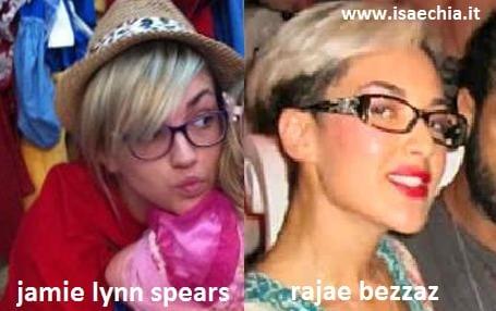 Somiglianza tra Rajae Bezzaz e Jamie Lynn Spears