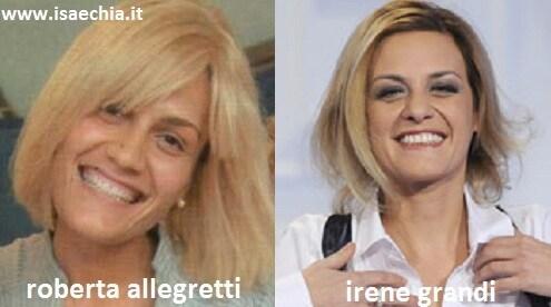 Somiglianza tra Roberta Allegretti ed Irene Grandi