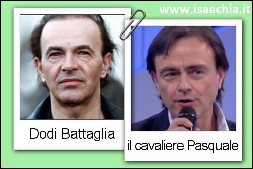 Somiglianza tra il cavaliere Pasquale e Dodi Battaglia