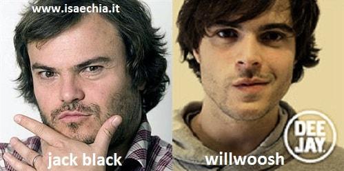 Somiglianza tra Jack Black e Willwoosh