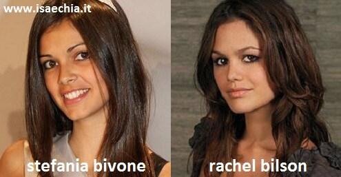 Somiglianza tra Stefania Bivone e Rachel Bilson