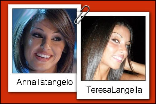 Somiglianza tra Teresa Langella ed Anna Tatangelo