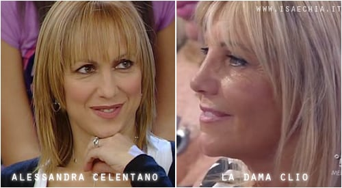 Somiglianza tra la dama Clio e Alessandra Celentano