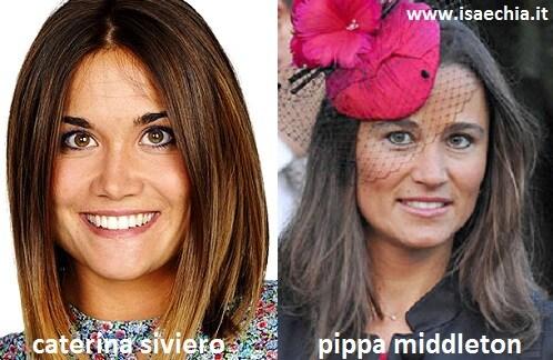 Somiglianza tra Caterina Siviero e Pippa Middleton