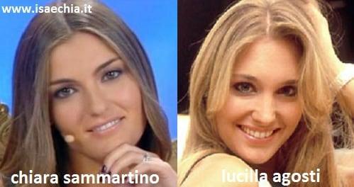 Somiglianza tra Chiara Sammartino e Lucilla Agosti