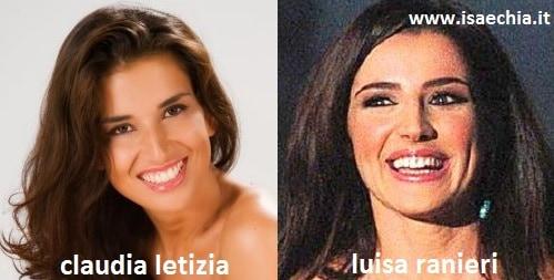 Somiglianza tra Claudia Letizia e Luisa Ranieri