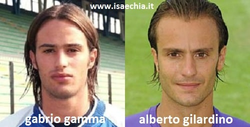 Somiglianza tra Gabrio Gamma e Alberto Gilardino