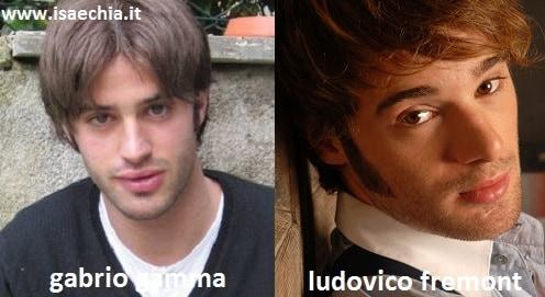 Somiglianza tra Gabrio Gamma e Ludovico Fremont