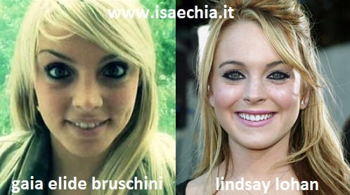 Somiglianza tra Gaia Elide Bruschini e Lindsay Lohan