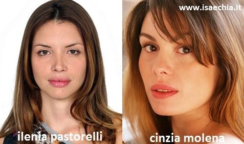 Somiglianza tra Ilenia Pastorelli e Cinzia Molena
