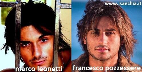 Somiglianza tra Marco Leonetti e Francesco Pozzessere