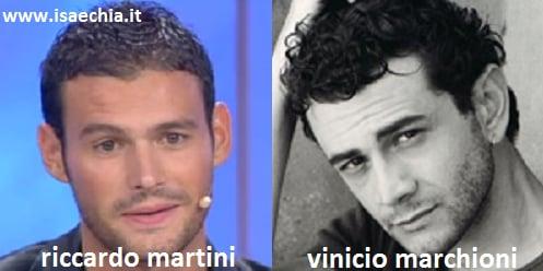 Somiglianza tra Riccardo Martini e Vinicio Marchioni