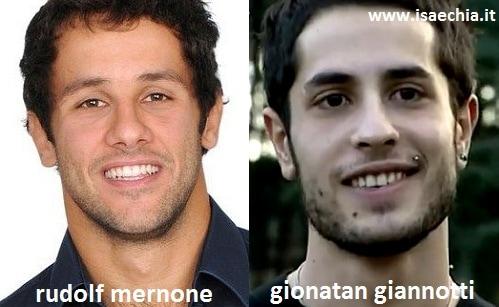 Somiglianza tra Rudolf Mernone e Gionatan Giannotti