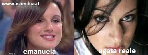 Somiglianza tra la corteggiatrice Emanuela ed Agata Reale
