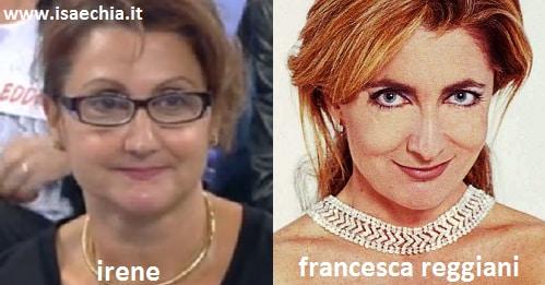 Somiglianza tra la dama Irene e Francesca Reggiani