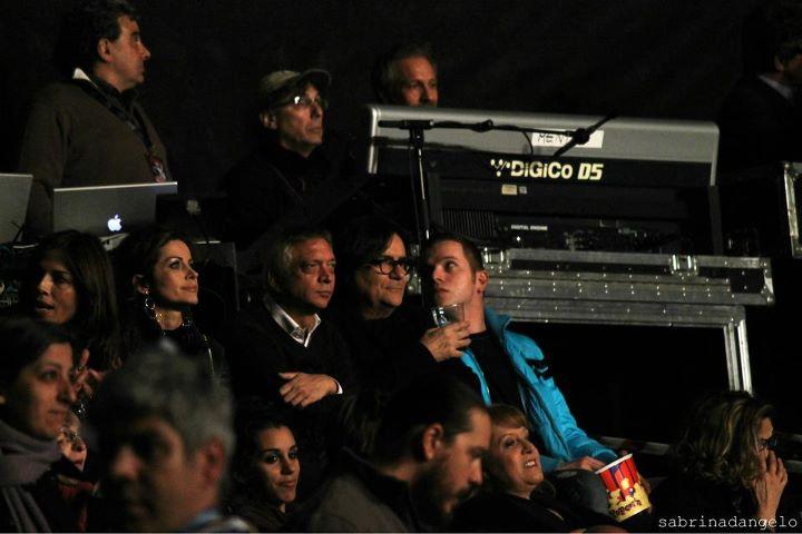 Renato Zero al concerto di Marco Mengoni