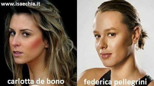Somiglianza tra Carlotta De Bono e Federica Pellegrini