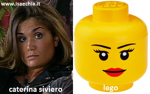 Somiglianza tra Caterina Siviero e i Lego