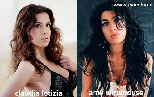 Somiglianza tra Claudia Letizia ed Amy Winehouse