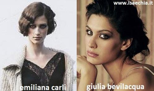 Somiglianza tra Emiliana Carli e Giulia Bevilacqua