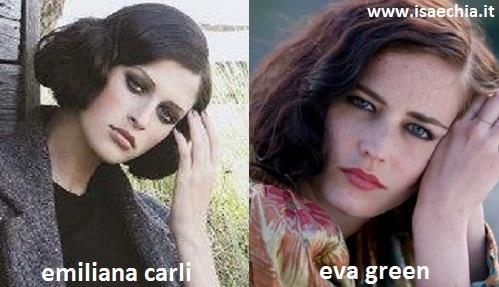 Somiglianza tra Emiliana Carli ed Eva Green