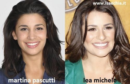 Somiglianza tra Martina Pascutti e Lea Michele