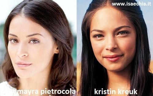 Somiglianza tra Mayra Pietrocola e Kristin Kreuk