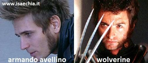 Somiglianza tra Armando Avellino e Wolverine