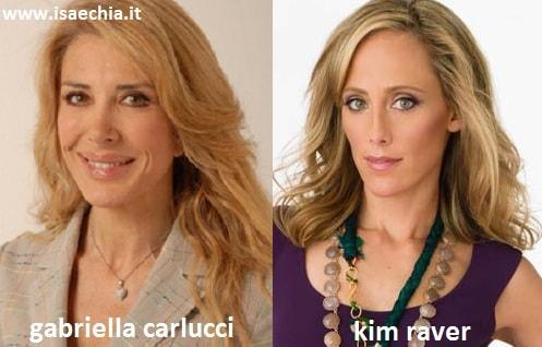 Somiglianza tra Gabriella Carlucci e Kim Raver