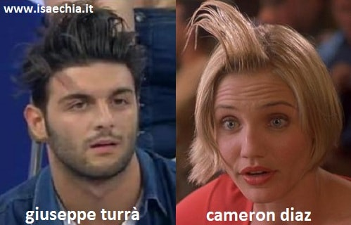 Somiglianza tra Giuseppe Turrà e Cameron Diaz in 'Tutti pazzi per Mary'