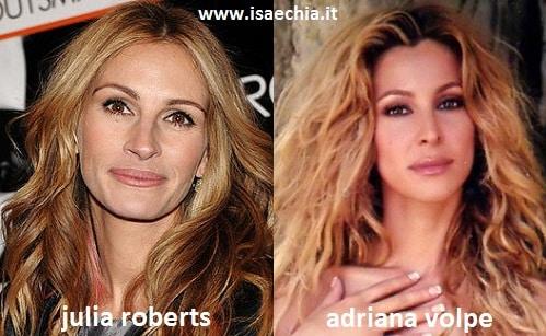 Somiglianza tra Julia Roberts e Adriana Volpe