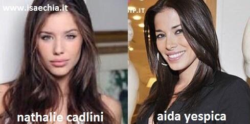 Somiglianza tra Nathalie Cadlini e Aida Yespica