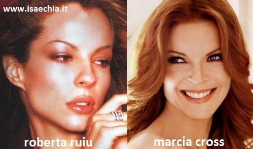 Somiglianza tra Roberta Ruiu e Marcia Cross