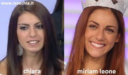 Somiglianza tra Chiara Bertania e Miriam Leone