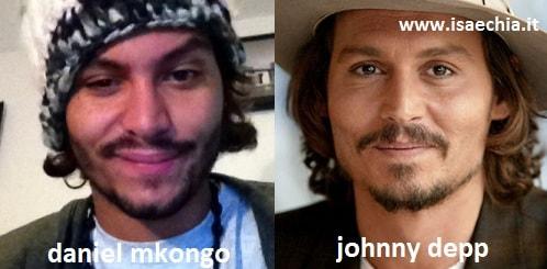 Somiglianza tra Daniel Mkongo e Johnny Depp