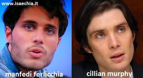 Somiglianza tra Manfredi Ferlicchia e Cillian Murphy