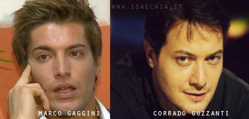Somiglianza tra Marco Gaggini e Corrado Guzzanti