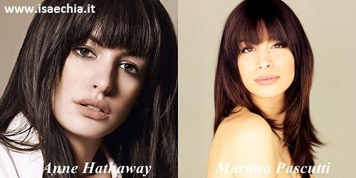 Somiglianza tra Martina Pascutti e Anne Hathaway