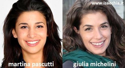 Somiglianza tra Martina Pascutti e Giulia Michelini