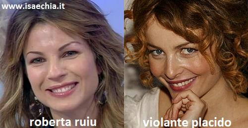 Somiglianza tra Roberta Ruiu e Violante Placido