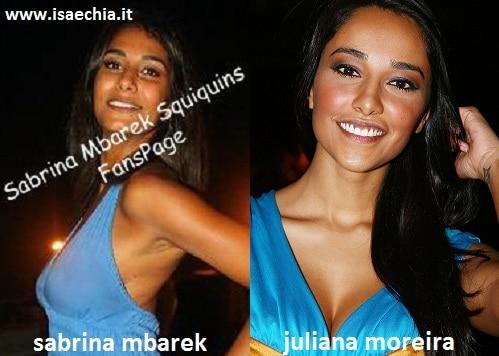 Somiglianza tra Sabrina Mbarek e Juliana Moreira