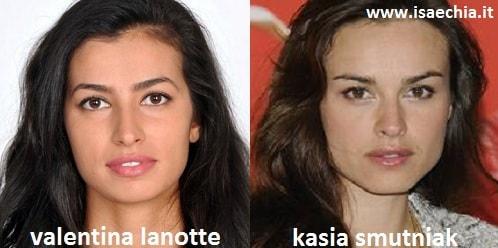 Somiglianza tra Valentina Lanotte e Kasia Smutniak