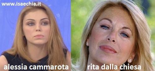 Somiglianza tra Alessia Cammarota e Rita Dalla Chiesa