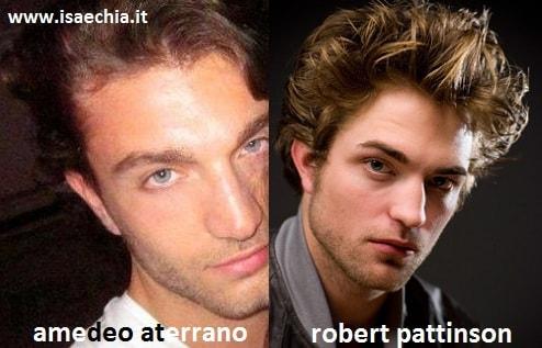 Somiglianza tra Amedeo Aterrano e Robert Pattinson