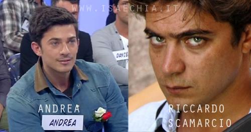 Somiglianza tra Andrea del Trono under e Riccardo Scamarcio