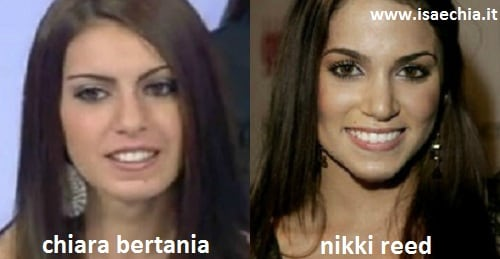 Somiglianza tra Chiara Bertania e Nikki Reed