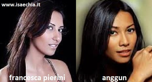 Somiglianza tra Francesca Pierini e Anggun